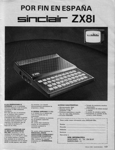 Anuncio ZX81