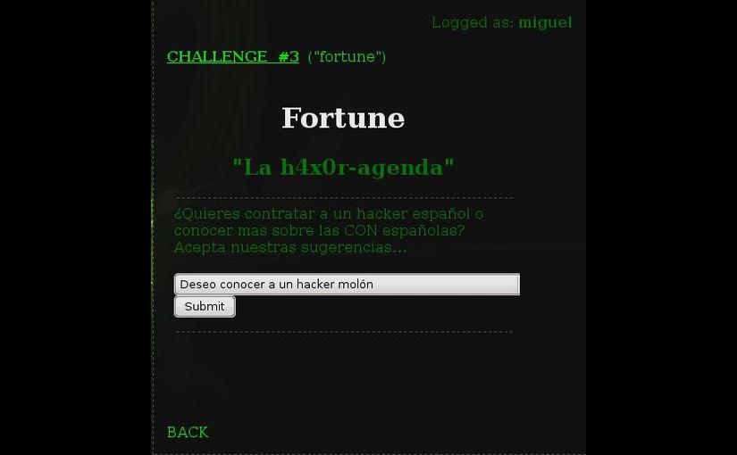 Level 3 – fortune