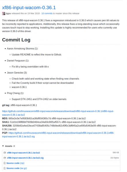 Librería xf86-input-wacom